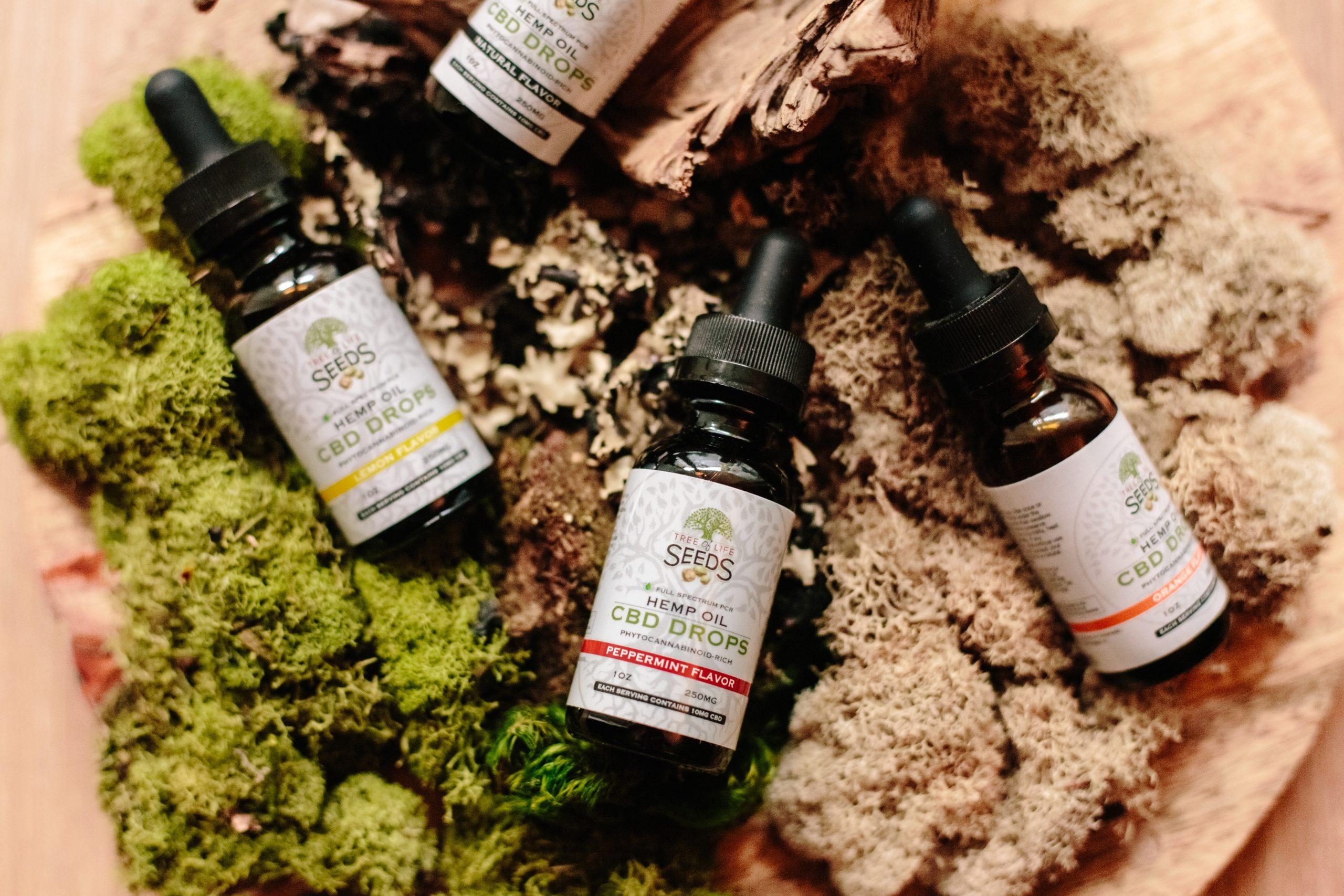 CBD Öl Auswahl für Massage